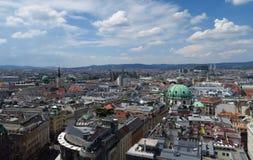Linia horyzontu Pierwszy okręg w Austrias kapitale Wiedeń Zdjęcie Stock