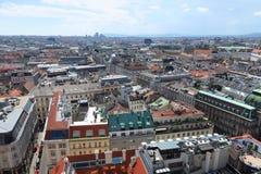 Linia horyzontu Pierwszy okręg w Austrias kapitale Wiedeń Fotografia Stock
