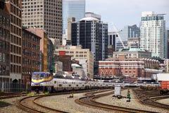 linia horyzontu przelotowy Vancouver fotografia royalty free
