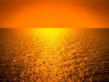 Linia horyzontu przy oceanem Obrazy Royalty Free