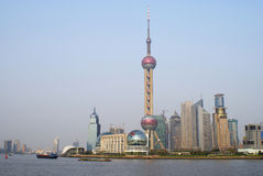 Linia horyzontu Pudong fotografia stock