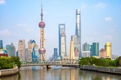 Linia horyzontu Pudong, Szanghaj, Chiny Zdjęcia Stock