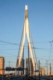 Linia horyzontu Rotterdam holandie Zdjęcia Royalty Free
