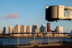 Linia horyzontu Rotterdam holandie Zdjęcie Stock