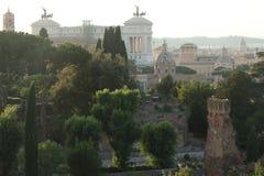 Linia horyzontu Rzym od San Bonaventura kościół Obrazy Stock