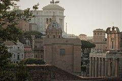 Linia horyzontu Rzym od San Bonaventura kościół Zdjęcia Royalty Free