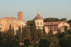 Linia horyzontu Rzym od San Bonaventura kościół Obraz Royalty Free