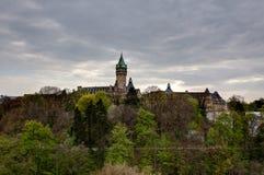 Linia horyzontu stanu oszczędzania bank, Luksemburg zdjęcia stock