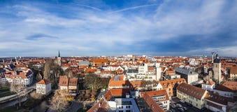 Linia horyzontu stary miasteczko Erfurt, Niemcy Obraz Royalty Free