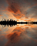 linia horyzontu sunset Sydney zdjęcie stock