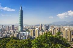 linia horyzontu Taipei Zdjęcie Stock