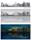 linia horyzontu Toronto royalty ilustracja