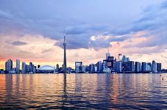 linia horyzontu Toronto Zdjęcia Stock