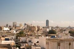 Linia horyzontu Tunis przy świtem Fotografia Royalty Free
