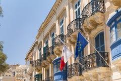 Linia horyzontu Valletta Obrazy Stock