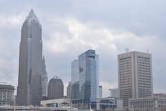 Linia horyzontu w Cleveland, Ohio, usa obrazy royalty free