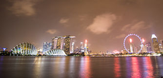 Linia horyzontu w Singapur obraz royalty free