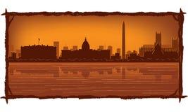 linia horyzontu Washington royalty ilustracja