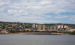 Linia horyzontu widok Duluth, Mineestoa zdjęcia royalty free