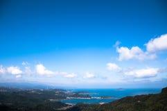 Linia horyzontu widok od Jiufen starej ulicy, Tajwan Fotografia Royalty Free