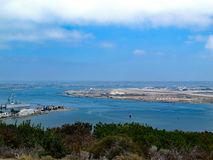 Linia horyzontu widok Północna wyspa zdjęcia stock
