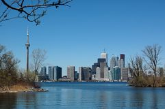 linia horyzontu wiosna Toronto   obrazy stock