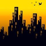 linia horyzontu wschód słońca Zdjęcie Stock