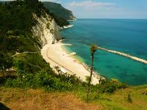linia horyzontu wybrzeże od góry Conero Italy Marche Obraz Stock