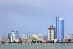 Linia horyzontu Xiamen z nowożytną architekturą, Chiny fotografia stock