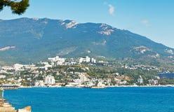 Linia horyzontu Yalta miasto na Czarnym morzu Zdjęcie Stock