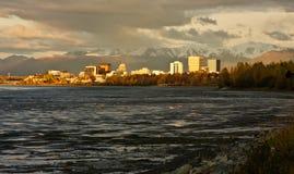 Zakotwienie, Alaska zdjęcia stock