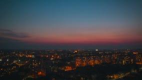 Linia horyzontu zmierzchu czasu upływu dzień noc zbiory wideo