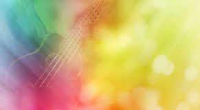 Linia i świetna lato miękka część dziewczyny i ukulele relaksujemy nastrój Zdjęcie Stock