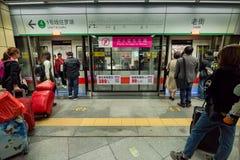 Linia Jeden Luohu, Shenzhen metro fotografia royalty free