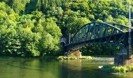 linia kolejowa bridge Obraz Royalty Free
