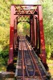 linia kolejowa bridge zdjęcie royalty free