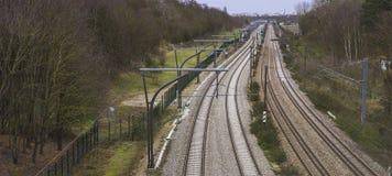 Linia kolejowa, France zdjęcia royalty free