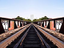Linia kolejowa graffiti Obraz Stock