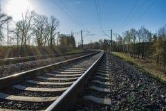 Linia kolejowa iść odległość zdjęcia stock