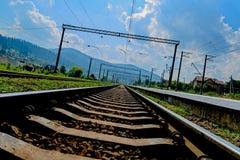 Linia kolejowa i linia kolejowa Fotografia Royalty Free