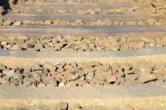 Linia kolejowa kamienie i tajni agenci Obraz Royalty Free