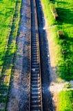 linia kolejowa miastowa obrazy royalty free