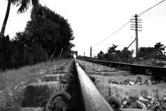 linia kolejowa miastowa Zdjęcia Royalty Free