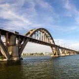 Linia kolejowa most Zdjęcie Royalty Free