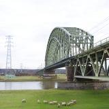 Linia kolejowa most zdjęcie stock