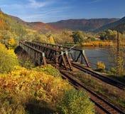 Linia kolejowa most Fotografia Royalty Free