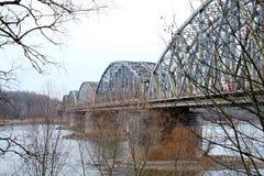 Linia kolejowa most, plenerowy Zdjęcie Royalty Free