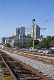 Linia kolejowa Nowy Orlean Obrazy Royalty Free