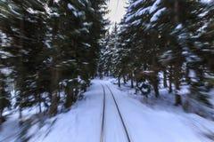 Linia kolejowa od Borjomi Bakuriani Gruzja Obraz Stock