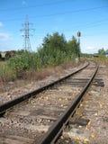 linia kolejowa oddalony bieg Obrazy Royalty Free